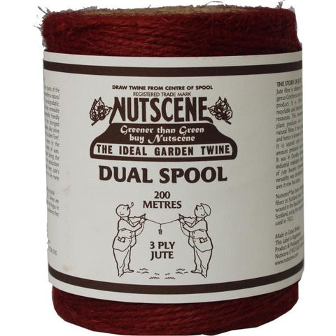 NUTSCENE® SCOTLAND  |  Twine Roll Dual Colour Spool - Red / Natural