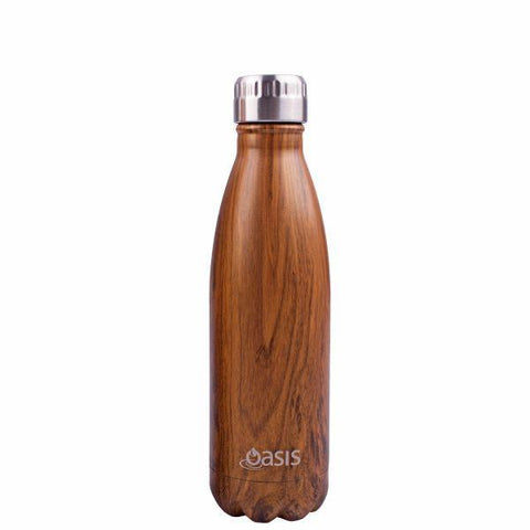 Oasis  |  Stainless Insulated Drink Bottle 500ml - Teak