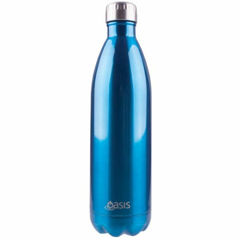 OASIS Drink Bottle 1L Stainless Insulated - Aqua Blue