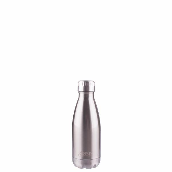 OASIS Drink Bottle 350ml Stainless Insulated - Silver