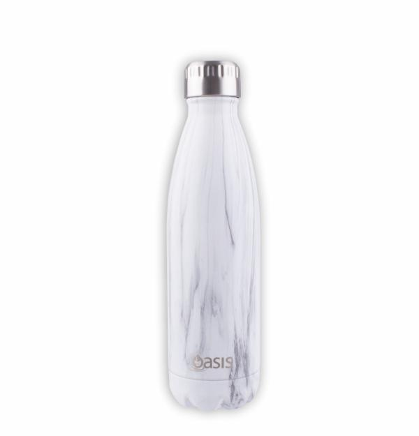 OASIS Drink Bottle 500ml Stainless Insulated - Marble