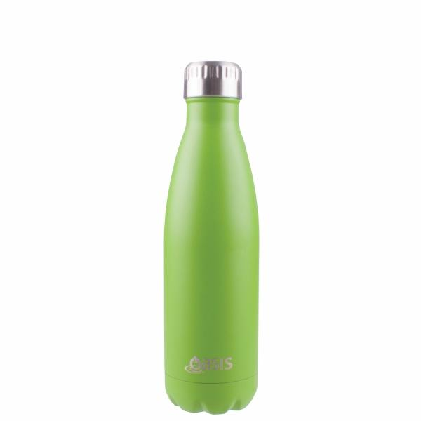 OASIS Drink Bottle 500ml Stainless Insulated - Matte Greenery