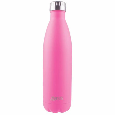 OASIS Drink Bottle 750ml Stainless Insulated - Matte Pink