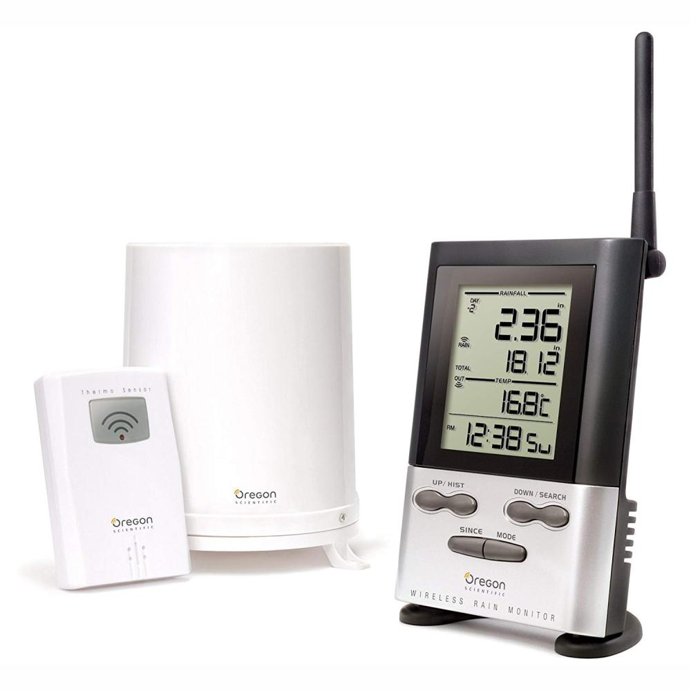 OREGON SCIENTIFIC | RGR126N Wireless Rain Gauge Weather Station with Remote Sensor