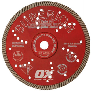 OX MPS SUPERIOR Turbo Masonry Diamond Blade