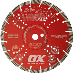 OX MPSS SUPERIOR SUPER FAST Segmented Turbo Diamond Blade