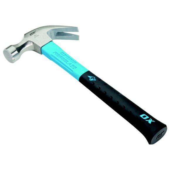 OX Pro 20oz Fibreglass Handle Claw Hammer