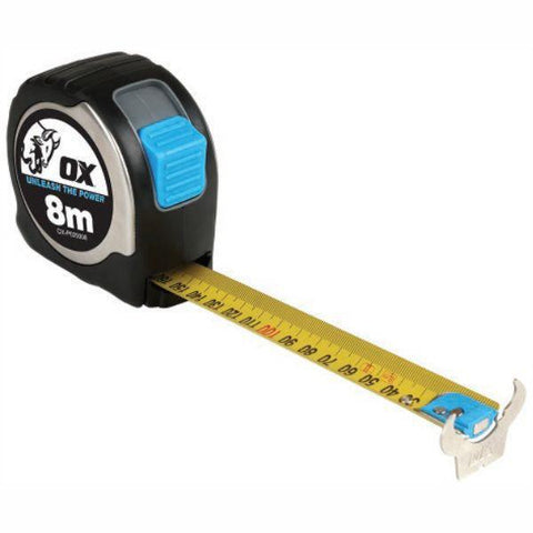 OX Pro Stainless Steel Tape Measure - 8m