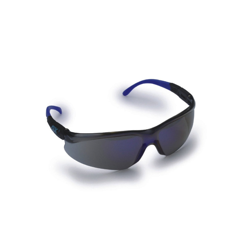 OX Safety Specs - Blue Mirror Lens