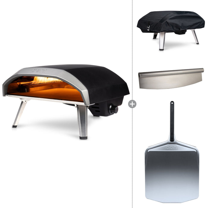 Ooni Koda 16 | Portable Gas Fired Outdoor Pizza Oven Starter Bundle