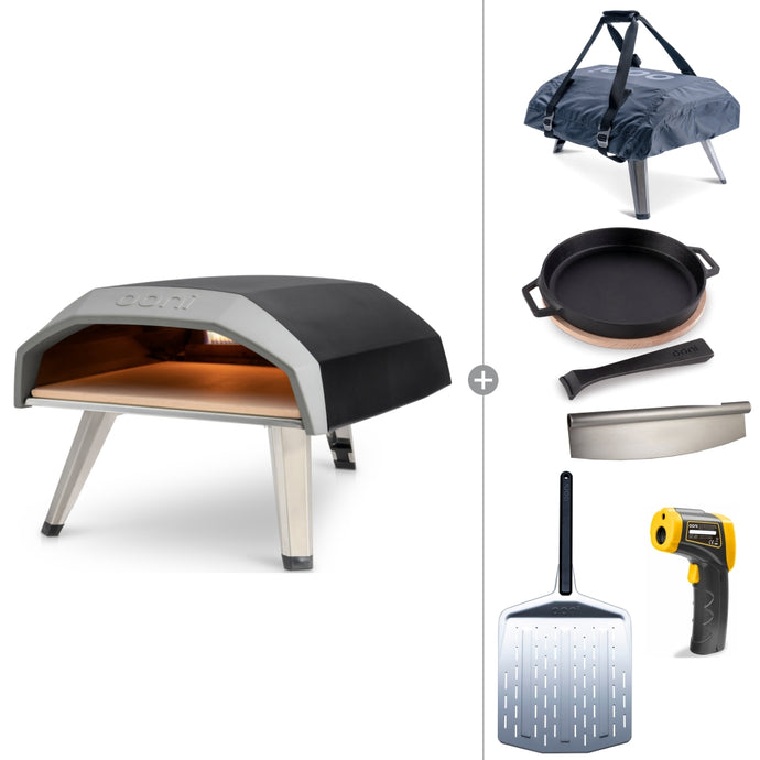 Ooni Koda | Portable Gas Fired Pizza Oven Deluxe Bundle with Accessories