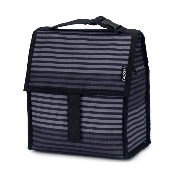 PACKIT® | Freezable Lunch Bag 4.5L - GREY STRIPE ** Limited Stock**
