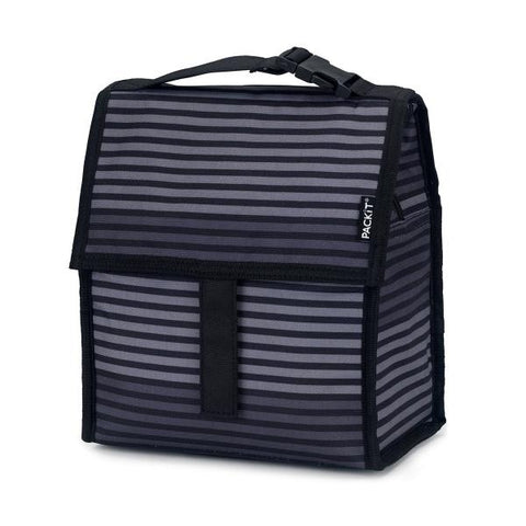 PACKIT® | Freezable Lunch Bag 4.5L - GREY STRIPE