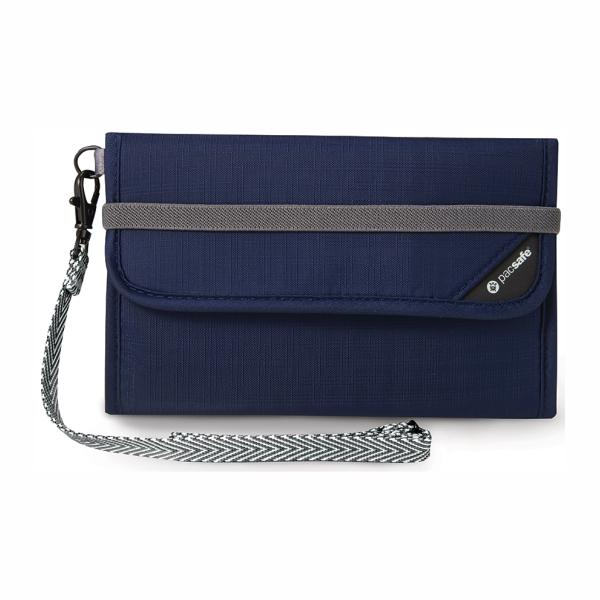 PACSAFE® | RFIDSAFE V250 Anti-theft RFID Blocking Travel Wallet - Navy
