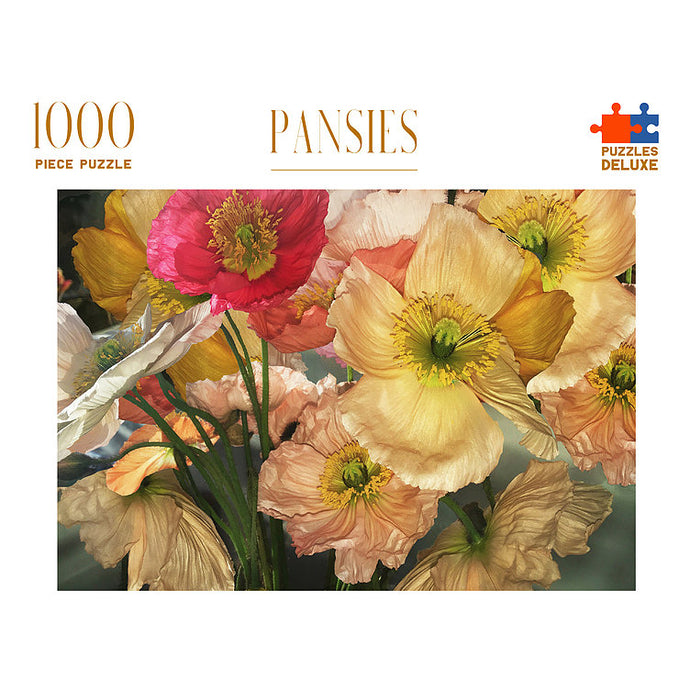 PUZZLES DELUXE 1000 Piece Jigsaw Puzzle - Pansies