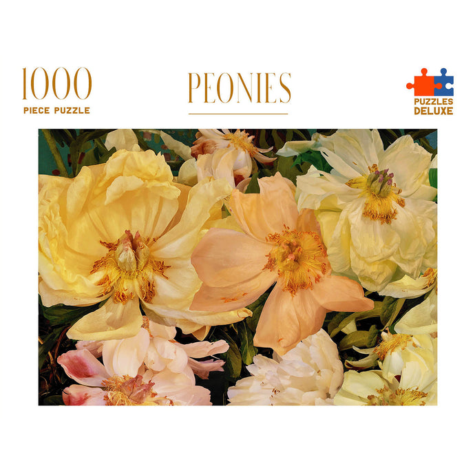 PUZZLES DELUXE 1000 Piece Jigsaw Puzzle - Peonies