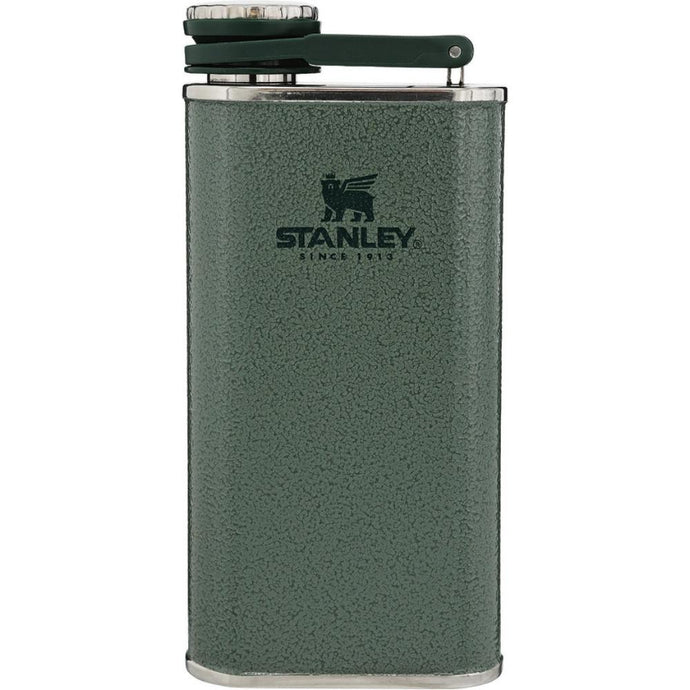 STANLEY Classic Easy-Fill Wide Mouth Hip Flask - Hammertone Green
