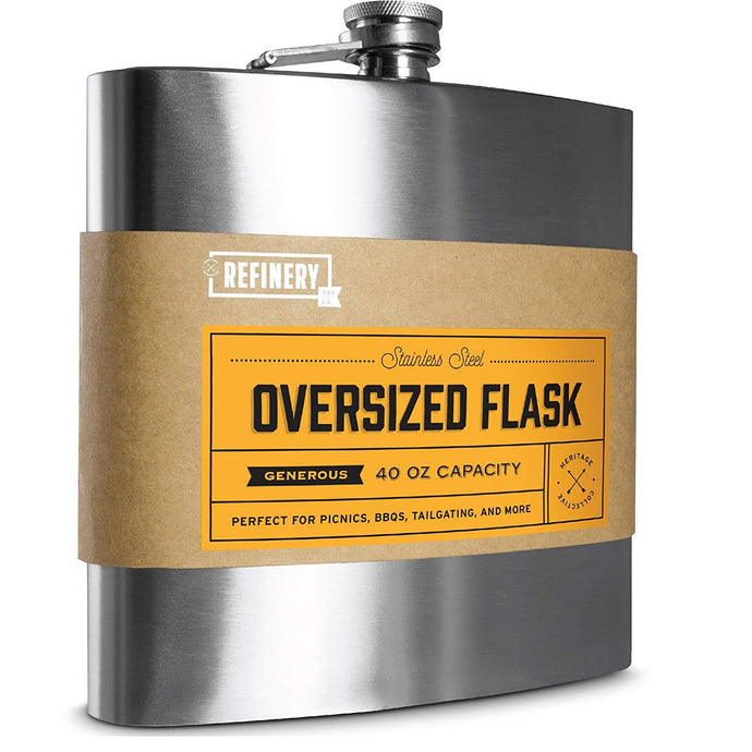 REFINERY & Co | Jumbo Stainless Steel Flask