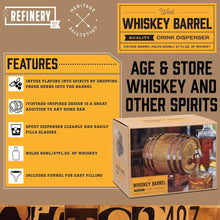 Load image into Gallery viewer, REFINERY & Co | Timber Whiskey Barrel