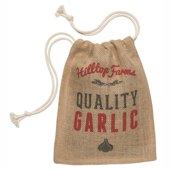RETRO KITCHEN | Produce Hessian Sack - Garlic