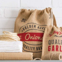 Load image into Gallery viewer, RETRO KITCHEN | Produce Hessian Sack - Garlic