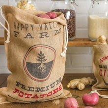 Load image into Gallery viewer, RETRO KITCHEN | Produce Hessian Sack - Potatoes