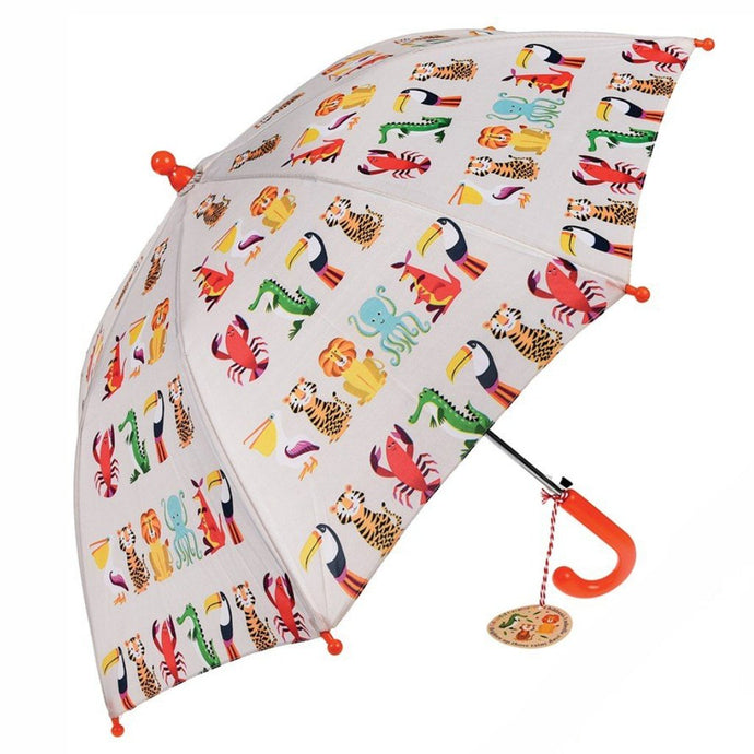 REX LONDON |  Children's Umbrella - Colourful Creatures
