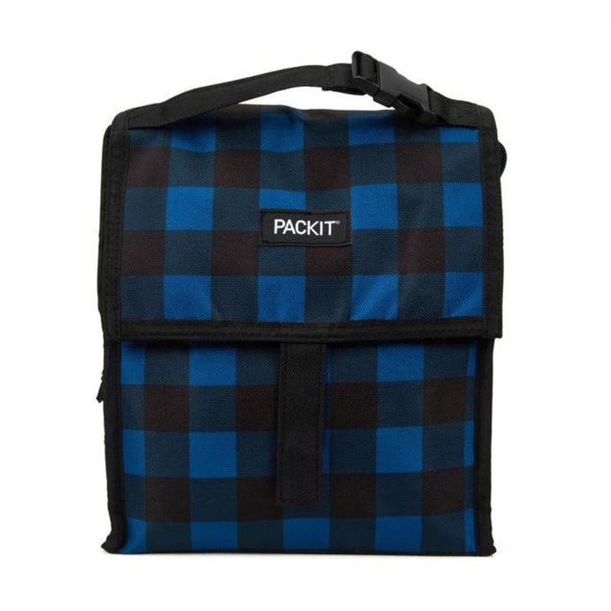 PACKIT® | Freezable Lunch Bag 4.5L - Navy Buffalo Check