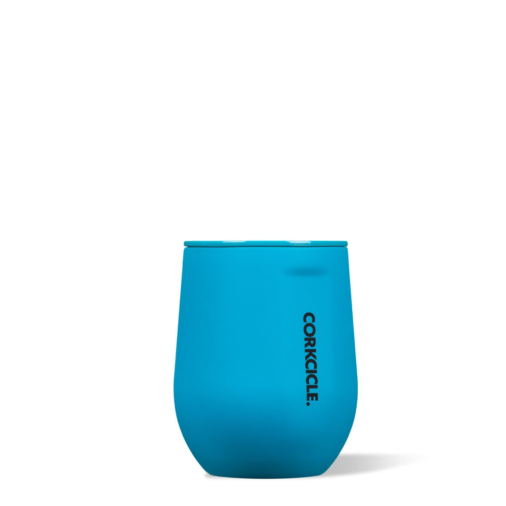 CORKCICLE | Stainless Steel Insulated Stemless 12oz - Neon Blue