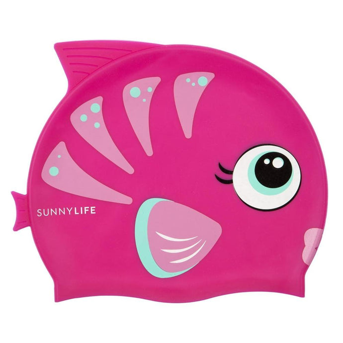 SUNNYLIFE | POOL CAPTAIN Fishy Swimming Cap - Pink