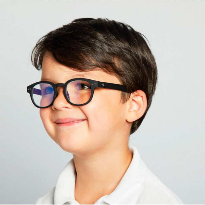IZIPIZI PARIS | SCREEN Glasses Junior Kids STYLE #C - Black (3-10 YEARS)