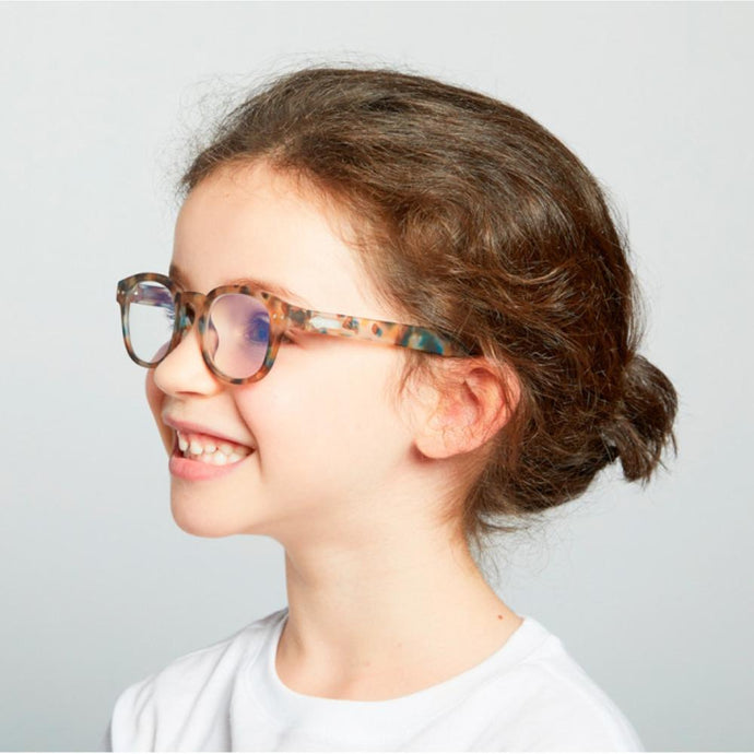 IZIPIZI PARIS | SCREEN Glasses Junior Kids STYLE #C - Blue Tortoise (3-10 YEARS)