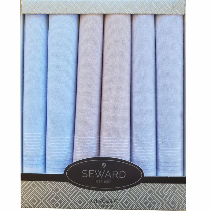 SEWARD | Men's CLASSIC Boxed Handkerchiefs set of 6 - Spring Pastels
