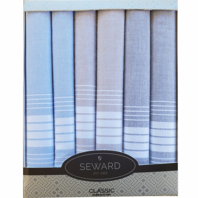 SEWARD | Men's CLASSIC Boxed Handkerchiefs set of 6 - Dapper Gent