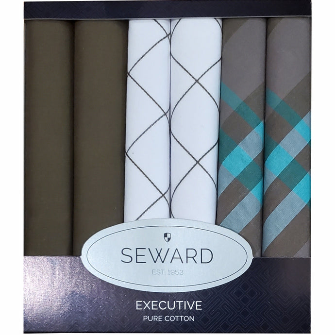 SEWARD | Men's Executive Handkerchiefs set of 6 - Mayfair
