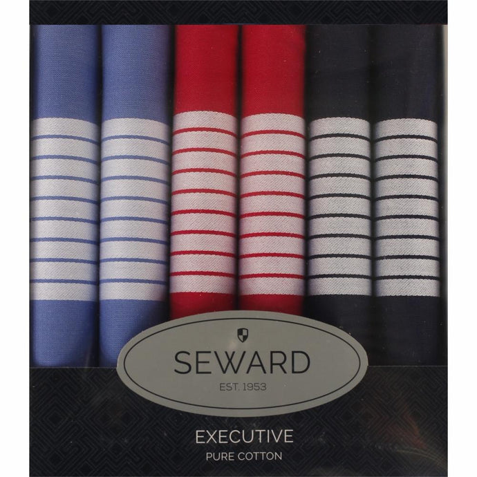 SEWARD | Men's Executive Handkerchiefs set of 6 - Newport
