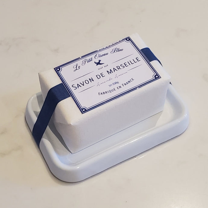 STING IN THE TAIL French Soap with Enamel Holder - Le Petit Oiseau Bleu