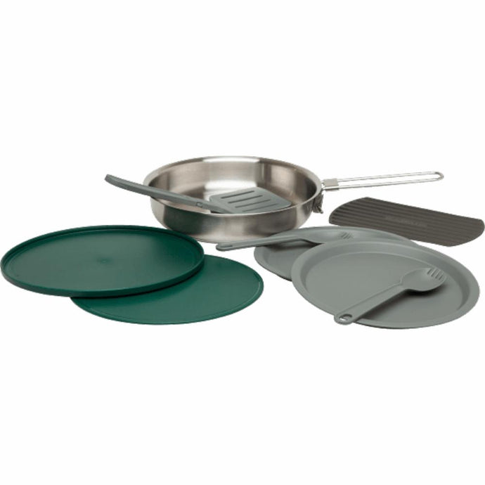 STANLEY | ADVENTURE Prep & Eat Fry Pan Set - Brushed Stainless Steel