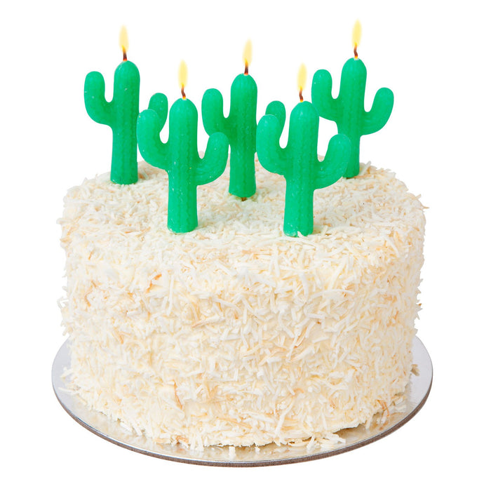 SUNNYLIFE | MAKE THE CAKE! Cake Candles 5 pc set - Green Cactus