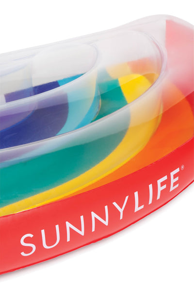 SUNNYLIFE  |  SUMMER IS BLOWING UP Luxe Lie On Float - Rainbow