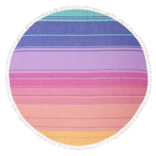 Load image into Gallery viewer, SUNNYLIFE | ROUND OFF Round Fouta Beach Towel - Navagio
