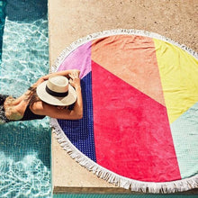 Load image into Gallery viewer, SUNNYLIFE | ROUND OFF Round Beach Towel - Hulule