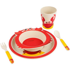 SUNNYLIFE  |  NO PLASTIC FANTASTIC  Eco Kids Meal Set - Crabby