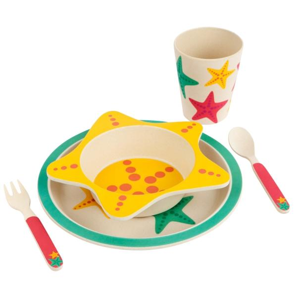 SUNNYLIFE  |  NO PLASTIC FANTASTIC  Eco Kid's Meal Set - Star Fish