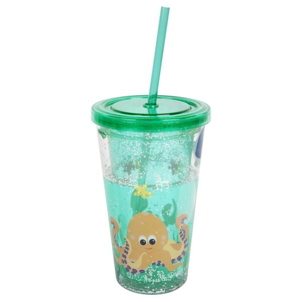 SUNNYLIFE | SPARKLY SIPPER Glitter Tumbler - Under the Sea