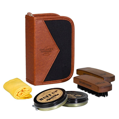 GENTLEMEN'S HARDWARE | Shoe Shine Kit - Charcoal