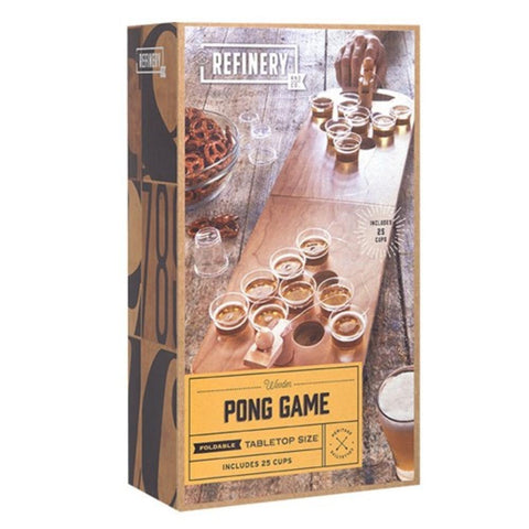 REFINERY Wooden Beer Pong Game