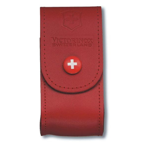 VICTORINOX | Leather Lock Blade Sheath  - Red