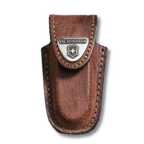 VICTORINOX |  Leather Classic Belt Knife Pouch - Brown