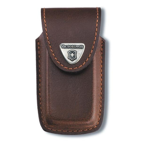 VICTORINOX | Leather Lock Blade Sheath - Brown - 4.0535
